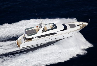 Luxury Motor Yacht CUDU Aerial View Running