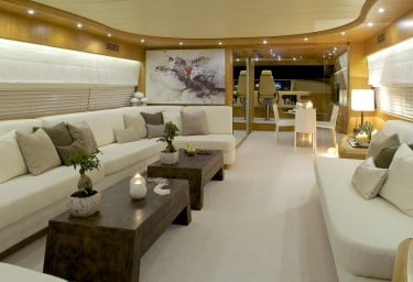 Luxury Motor Yacht CUDU Saloon and Bridge