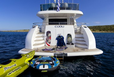 Luxury Motor Yacht CUDU Swimming Platform and Water Toys