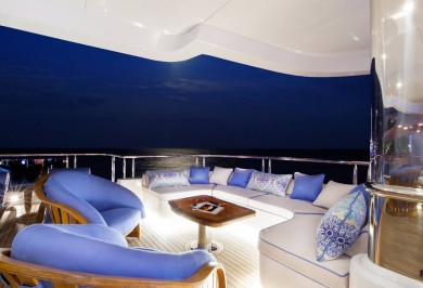 Luxury Charter Yacht MY SEANNA Bridge Deck