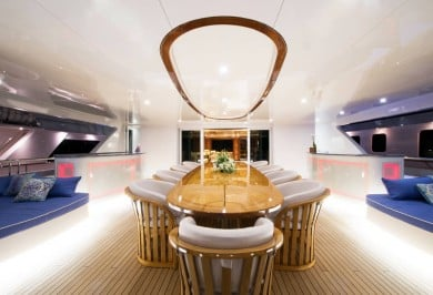 Luxury Motor Yacht MY SEANNA Bridge Deck Dining