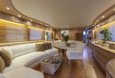 Luxury Charter Yacht SANDS New Saloon
