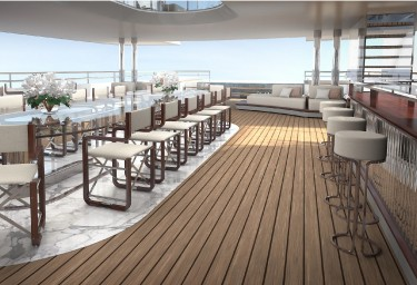 GRAND OCEAN Aft Deck Dining Area