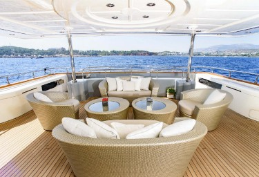 LIBERTAS Aft Deck Seating