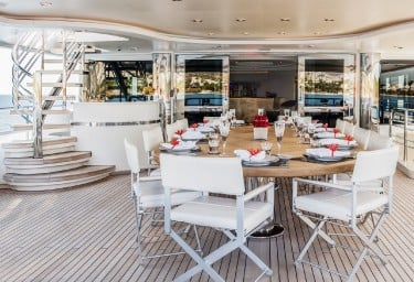 LIGHT HOLIC Aft Deck Dining Area