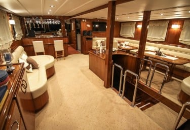Motor Sailer AURUM Main Saloon Facing Forward