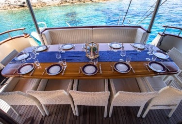 KORAB Aft Deck Dining Table