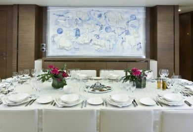 Luxury Yacht OURANOS Interior Dining