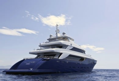 M/Y OURANOS Stern View