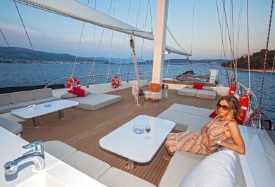 Luxury Gulet NAVILUX Sun Deck Relaxation