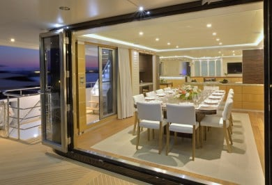Quaranta Saloon Deck Dining