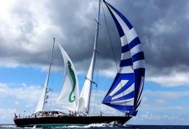 AXIA Sailing with the Spinnaker