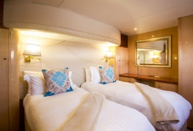 Luxury Charter Catamaran KINGS RANSOM Convertible Twin Cabin