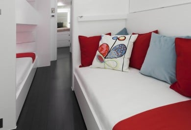 Sailing Catamaran LEVANTE bunk cabin