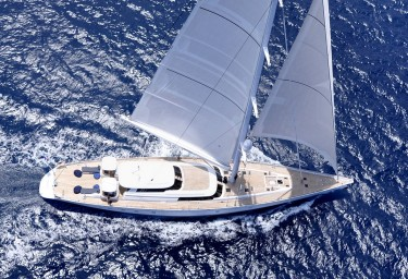 Sailing Yacht HYPERION Aerial View