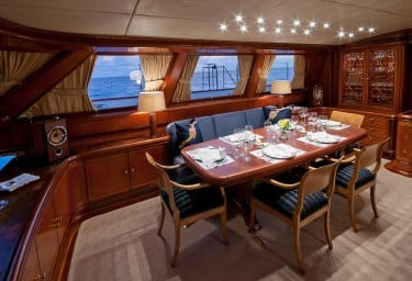Sailing Yacht HYPERION Formal Dining