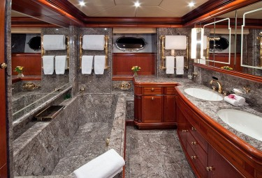 Sailing Yacht HYPERION Master Ensuite Bathroom