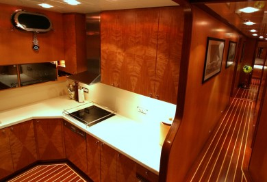 Serenity 86 Galley and Passageway