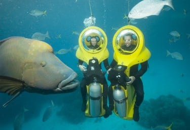 Submersibles on Great Barrier Reef