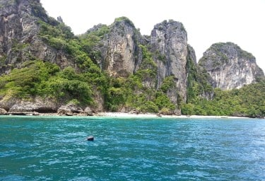 Beach and cliffs in Thailand